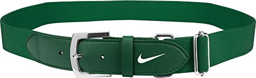Nike Adult Leather Baseball Belt (Green, One Size)