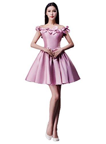 Vimans® 2016-Pantaloncini da donna a tracolla, disegno con fiocchetto, per Cocktail Party Dresses rosa 46