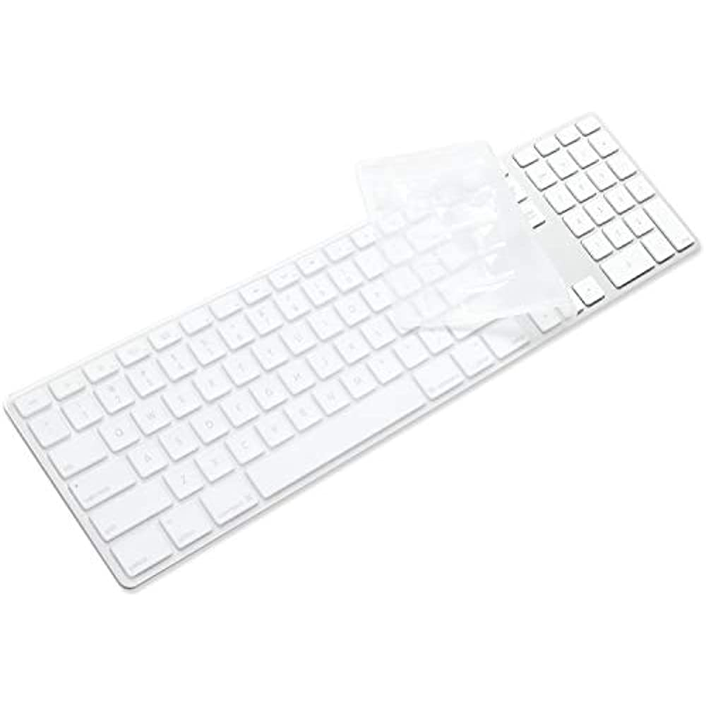silicone full size ultra thin keyboard cover skin for apple imac with numeric  u0026quot