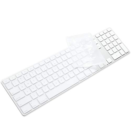 ProElife Silicone Full Size Ultra Thin Keyboard Cover Skin for Apple iMac Keyboard with Numeric Keypad Wired USB MB110LL/B-A1243 (Clear)