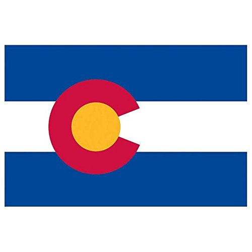 Valley Forge, Colorado State Flag, Nylon, 3'x5', 100% Made in USA, Canvas Header, Heavy-Duty Brass Grommets