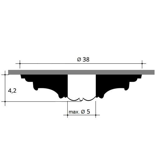 Roset/ón Flor/ón Elemento decorativo de estuco Orac Decor R08 LUXXUS para techo o pared Forma de anillo 38 cm di/àmetro