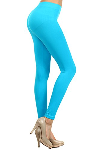 Neon Colored Stretchy Footless Tights - Many Colors