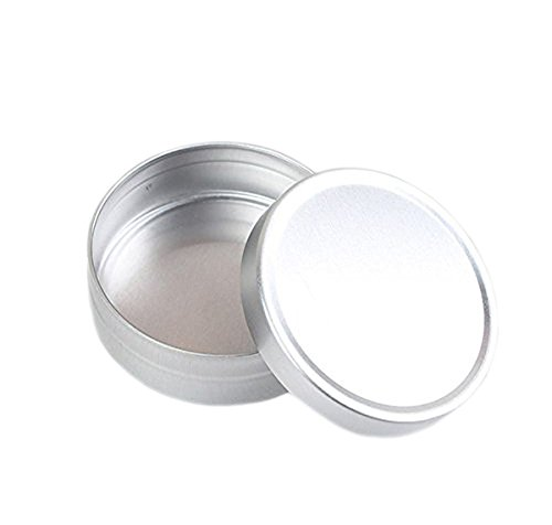 Homemade Face Makeup Halloween (Aluminium Tin Empty Slip Slide Round Tin Containers for Lip Balm Makeup Face Cream Eye Shadow Jar Pot Bottle Pack of 5pcs (10ml))