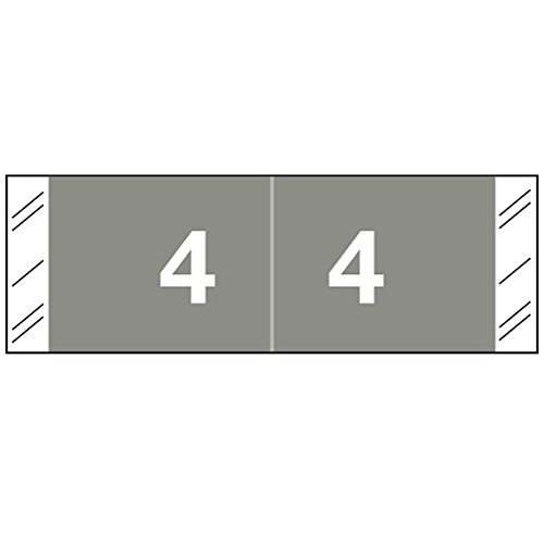 COL-R-TAB COMPATIBLE 59709542 11850 Permanent Color Code Label, Mylar, Numeric,''4'', 1 1/2'' x 1'', Gray (Pack of 500) by COL-R-TAB COMPATIBLE