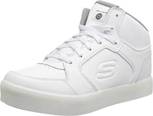 Skechers Kids Boys' S Energy Lights Sneaker,white,7.5 Medium US Big Kid (Shoes Skechers Light)