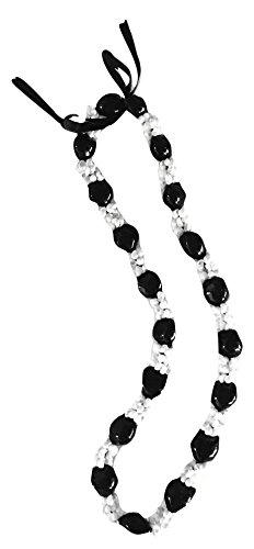 Hawaiian Shell Necklace - Hawaiian Lei Necklace of Kukui Nuts and White Mongo Shells