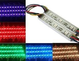 LED Module Lights 100pcs DC 12V 5050 SMD 3-LED Waterproof Module LED Light BLUE by USA-LED (Image #4)