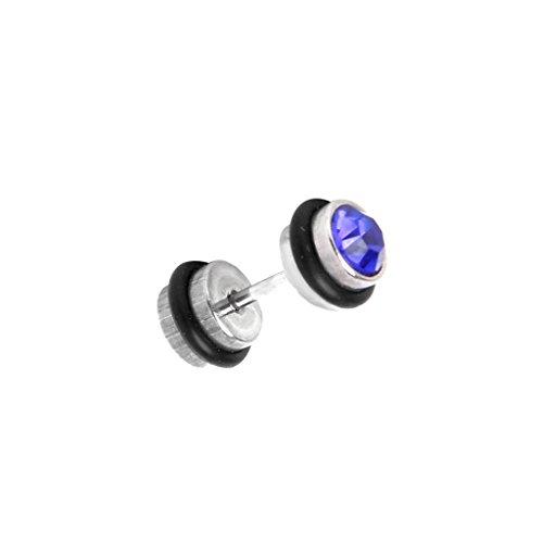 1 pcs Gothic Male Black Crystal Stainless Steel Mens Screw Ear Stud Earrings E01 qh l8B6E9f