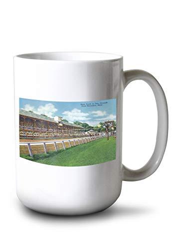 Lantern Press Great Barrington, Massachusetts - Fair Grounds Race Track View (15oz White Ceramic Mug)