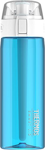 Thermos 24 Ounce Hydration Bottle with Connected Smart Lid, Teal