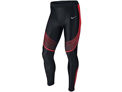 Men's Nike Power Speed Running Tights Black Orange 717750-015 (XXL)