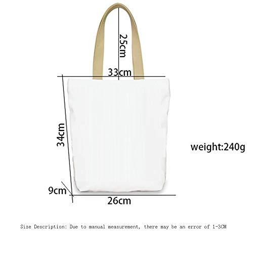 Hand Weohau School 3D Zipper Fashion Libri Stampati Cartoon casual Portable da Manici Bag tela Shopping Pouch su viaggio FFrqw6xR