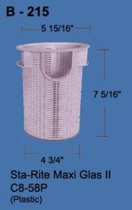 Aladdin Swimming Pool Pump Basket B-215 for Dura-Glas II or Max-E-Glas II C8-58P,B215