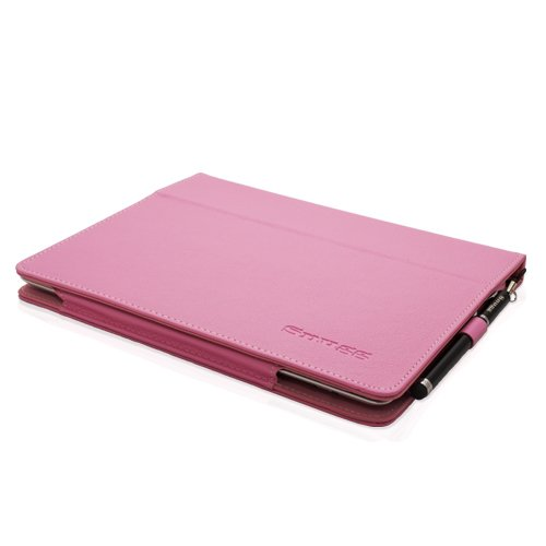 Snugg iPad 3 & 4 Case - Smart Cover with Flip Stand & (Candy Pink Leather) for Apple iPad 3 and 4