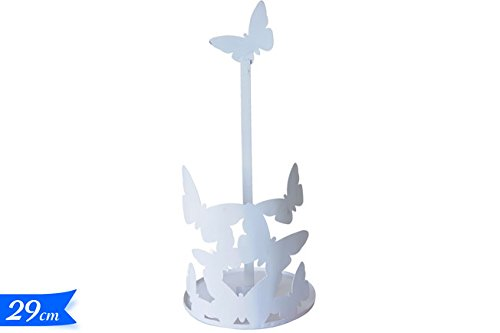 Porta rotolo/Porta scottex Butterfly (bianco) Cara Maison