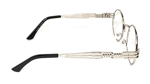 85c88b196d WebDeals - Round Circle Vintage Metal Sunglasses Eyeglasses Bold Design  Decorated Frame and Nose Piece (