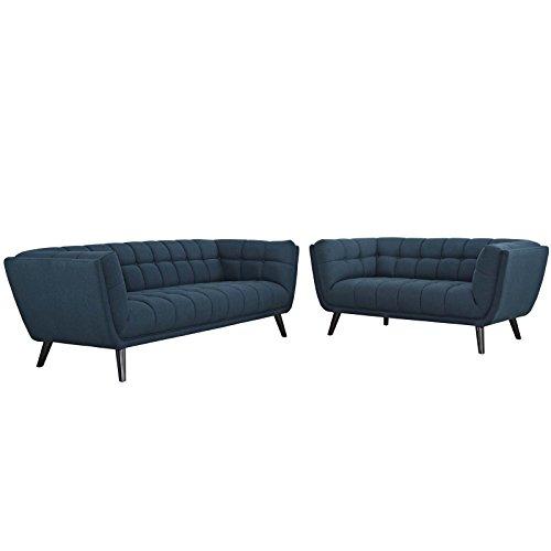 Modway EEI-2975-BLU-SET Bestow 2 Piece Upholstered Fabric So
