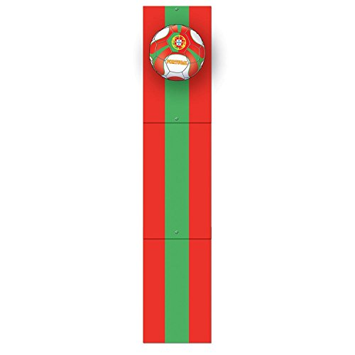 Club Pack of 12 Red and Green ''Portugal'' Soccer Themed Jointed Pull-Down Cutout Decorations 5' by Party Central