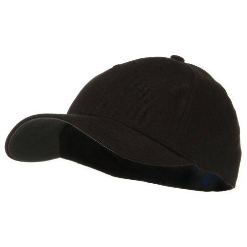 Low Profile Black Hat - Low Profile Brushed Flex Cap - Black W31S68F