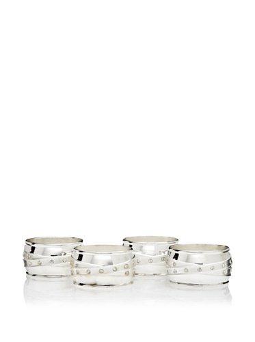 - Godinger Satin & Stone Napkin Rings, Set Of 4