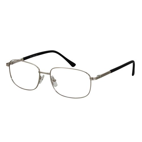 EyeBuyExpress Rectangle Silver Reading Glasses Magnification Strength 1.75 by EyeBuyExpress