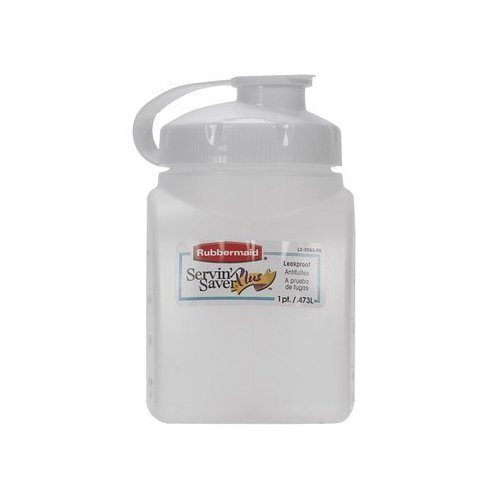Servin Saver Bottle (Rubbermaid Servin Saver White Bottle 1 Pt.)