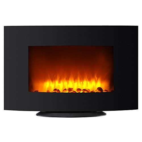 Cheap bzzao 3D Electric Fireplace Heater Wall Mounted or Freestanding with Remote 750W 1500W36inch Blacklack Black Friday & Cyber Monday 2019