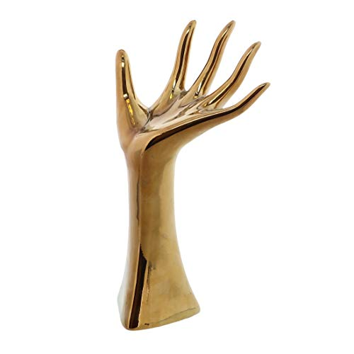 (Gold Hand Ring Holder Mannequin Jewelry Bracelet Ring)