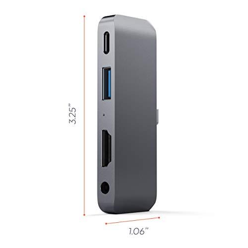 Satechi Aluminum Pro USB-C Charging, HDMI, USB 3.5mm Headphone - Compatible Pro, Microsoft Surface and