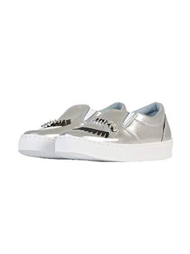 Cf1272 Pelle Argento Slip Donna Chiara Ferragni Sneakers On xOXXq8