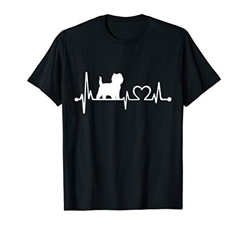 Cairn Terrier Dog Heartbeat Funny Dog Gift T-Shirt