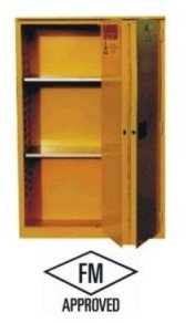Jamco Products, Inc., Economy Bi Folding Door Safety Cabinets, Jsc-30, Capacity Gallons: 30, Size W X D X H: 43 X 18 X 44, Number Of Shelves Included: 1, Weight-Lbs: 250, Bf30