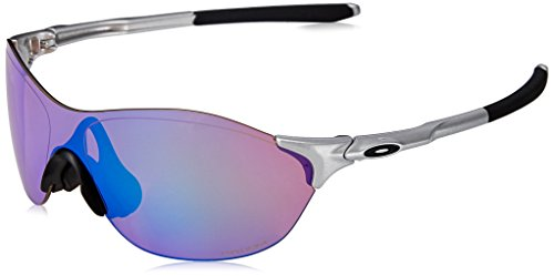 Oakley Men's Evzero Swift (a) Non-Polarized Iridium Rectangular Sunglasses, SILVER, 38 mm