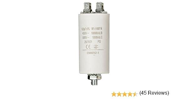 Fixapart W1-11007N, Condensador (6,3uF/450), Blanco: Amazon.es: Electrónica