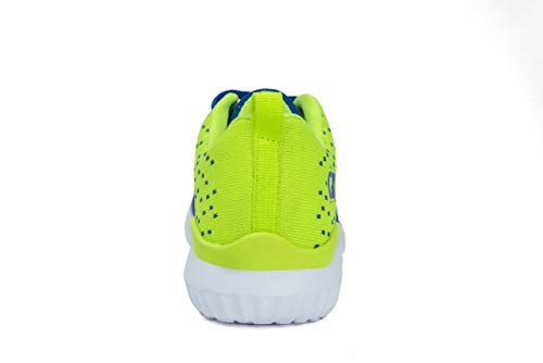 Pictures of Kids Athletic Tennis Shoes - Little Kid Sneakers with Girl and Boy Sizes Blue/Green Size 1 Little Kid (Azul/Verde - 32) 1 M US 5
