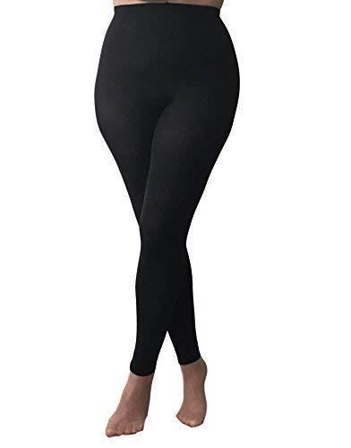 Ladies 1 Pair Plus Size 70 Denier Opaque Tight with Lycra Black various sizes