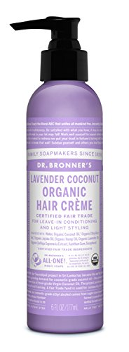 Dr Bronner Lavender Coconut Hair Conditioner Styling Creme 6 Fl Oz Cream
