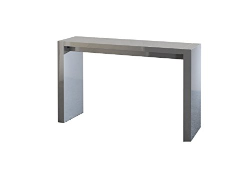 Neos Modern Furniture Creative Images International Neo Collection Wooden Bar Table, Gray Lacquer ()