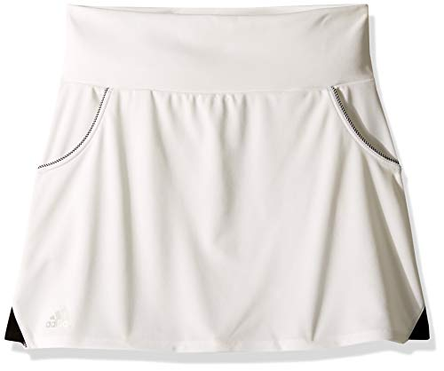 adidas Youth Club Tennis Skirt, White, X-Large