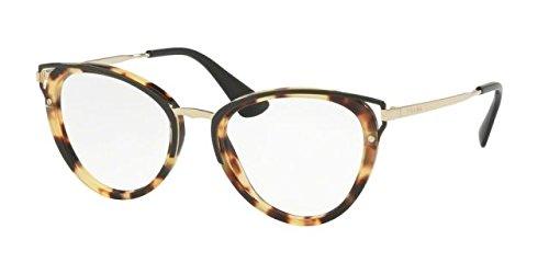 Prada Women's Wanderer Sunglasses, Medium Havana/Clear, One - Glasses Prada Cateye Frames