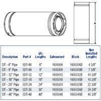 Direct Vent Pipe 48 - Metalbest 1605048 Direct-Temp 5