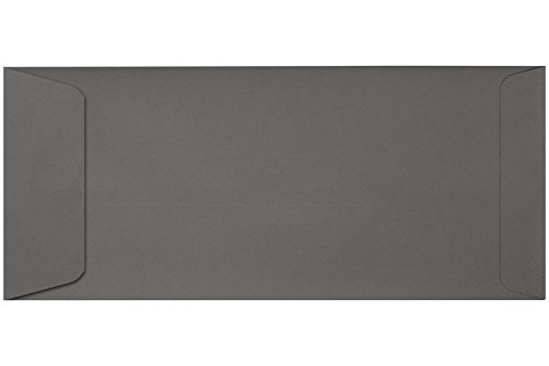 #10 Open End Envelopes w/Peel & Press (4 1/8 x 9 1/2) - Smoke Gray (50 Qty.) | Perfect for Small Business Use and Invitations Photo #2