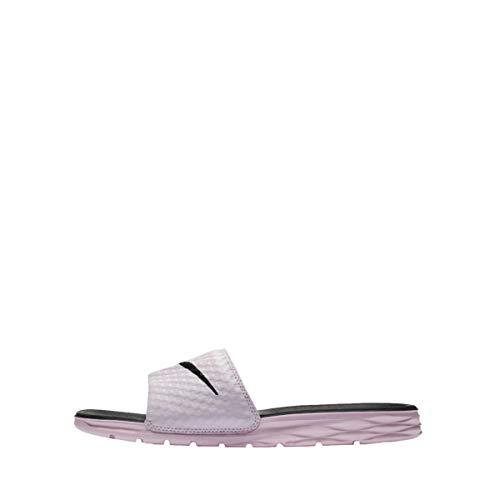 NIKE Women's Benassi Solarsoft Slide Sandal, Arctic Pink/Black, 6 B ()