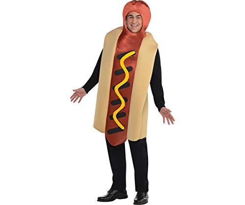 AMSCAN Hot Diggity Hot Dog Halloween Costume for Adults, Plus Size, with Armholes