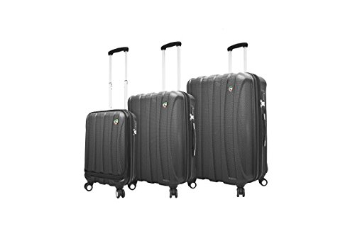 Mia Toro Luggage Tasca Fusion Hardside Spinner Luggage 3pc Set Blu, Blue