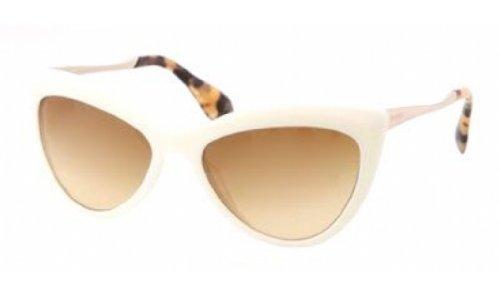 Miu Miu 08OS 7S31G0 White and Tortoise 08Os Cats Eyes Sunglasses Lens - Miu Tortoise Cat Sunglasses Miu Eye