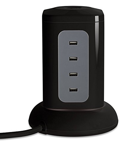 Power Strip Surge Protector Outlet – USB Desktop Charging Station for Multiple Devices Cell Phone Watch Airpods PS4 Xbox Controller at the Same - Station Watch Outlet