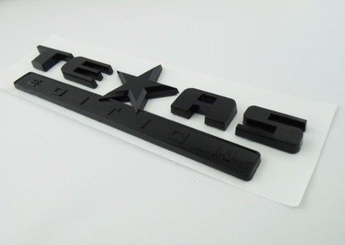 - TrueLine Texas Edition Side Door/Tailgate Emblem (Black)