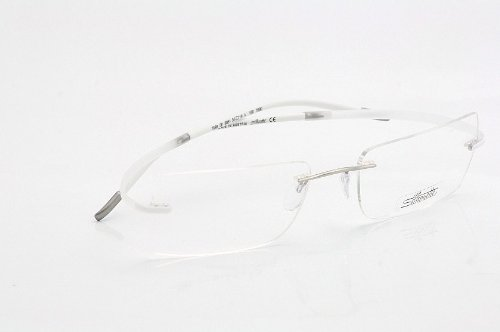 00bef20b1e Amazon.com  Silhouette Eyeglasses Spx Art 7690 6051 Pure White Optical  Frame 19-150mm  Health   Personal Care
